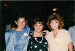 Kim Holmes (Huggins), Darlene Devane (Baker) and Deb Gonzales, Class of 76.  Ten Year Reunion